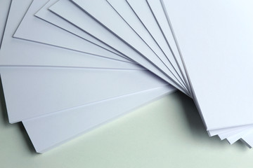 White paper close up