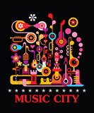 Fototapety Music City