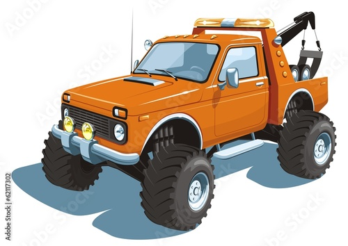 Vector isolated wrecker, tow truck