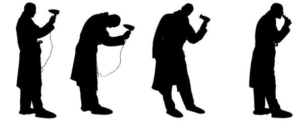 Vector silhouette of a man.