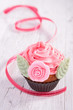 cupcake and ribbon