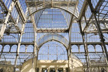 Palacio de Cristal en el parque del Retiro, Madrid (España)