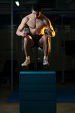 Man Doing Box Jump