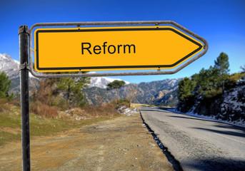 Strassenschild 16 - Reform