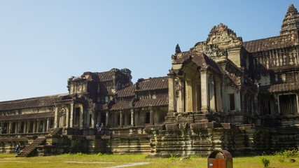 Angkor Thom wat temple in Cambodia