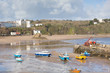 Low tide Tenby harbour Wales