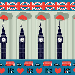 blue London pattern