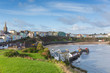 Tenby town and harbour view Pembrokeshire Wales