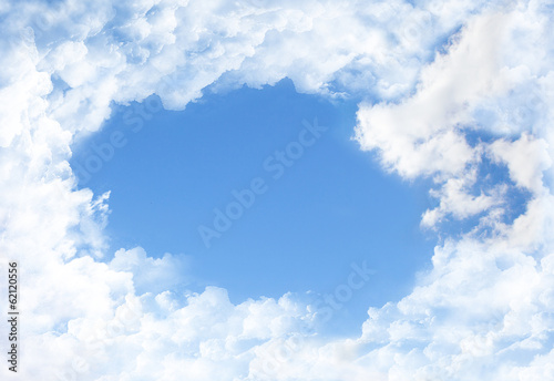 canvas print picture Hintergrund Wolken Himmel Copy Space