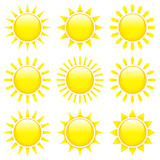 9 Yellow Sun Icons