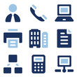 Office web icons, blue set