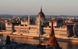 Budapest Parliament at golden hour