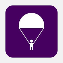 man on a parachute