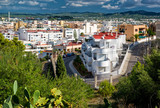View of modern apartments in center of Ibiza city. Spain