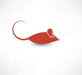 Red rat icon.