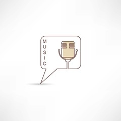 Brown microphone icon