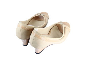 Ladies shoes isolated.