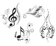 Clef with floral elements