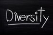 The word Diversity written on a blackboard