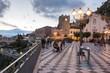 Leinwandbild Motiv Taormina ed Etna