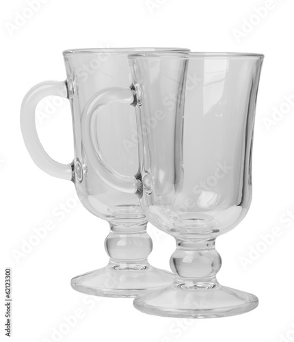 Empty glass with handle