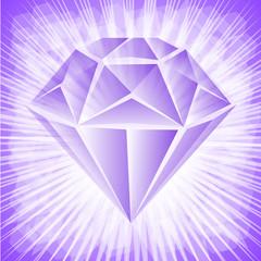 fioletowy kamień szlachetny