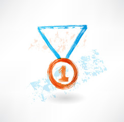 Medal grunge icon