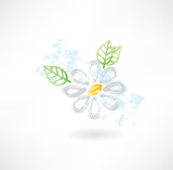 Daisy flower grunge icon