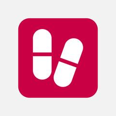 Medicine pill icon