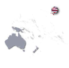 Pazifikkarte mit Hawaii