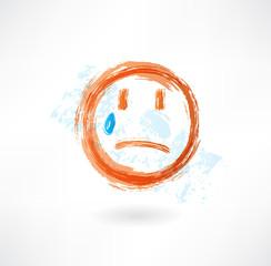 Sad grunge icon