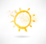 Brush sun icon. Creative nature.