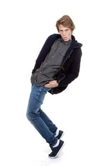 cool hip fasion teen dancing,