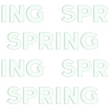 "Seamless pattern of the embossed words ""Spring"""