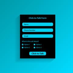 Click-to-talk form.