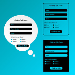 Set of Click-to-talk forms