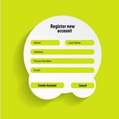 Registration web site form