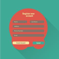 Registration web site form