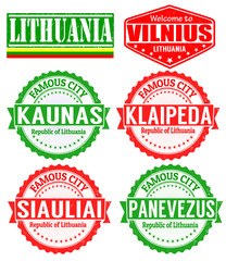 Lithuania cities stamps