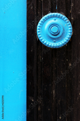 old doorbell on door