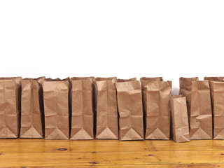 Brown Bags in a Row