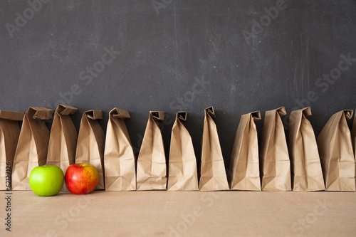 Deurstickers Situatie Brown Bag School Lunch
