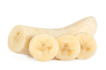 Banana slice closeup