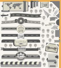 Website headers and navigation elements
