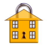 Home security with padlock