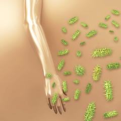 Bakterien übertragung - 3d Render