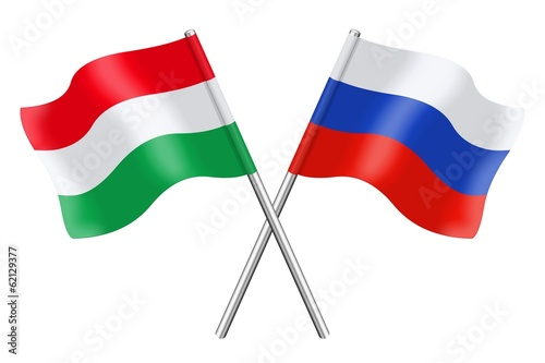Flags : Hungary and Russia