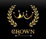 Golden crown, vector