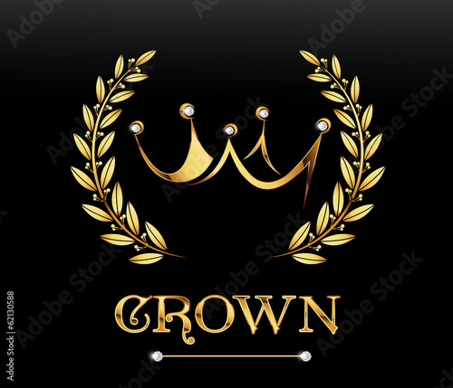 Golden crown, vector - 62130588