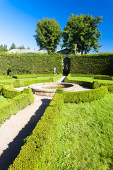 palace garden in Nachod, Czech Republic